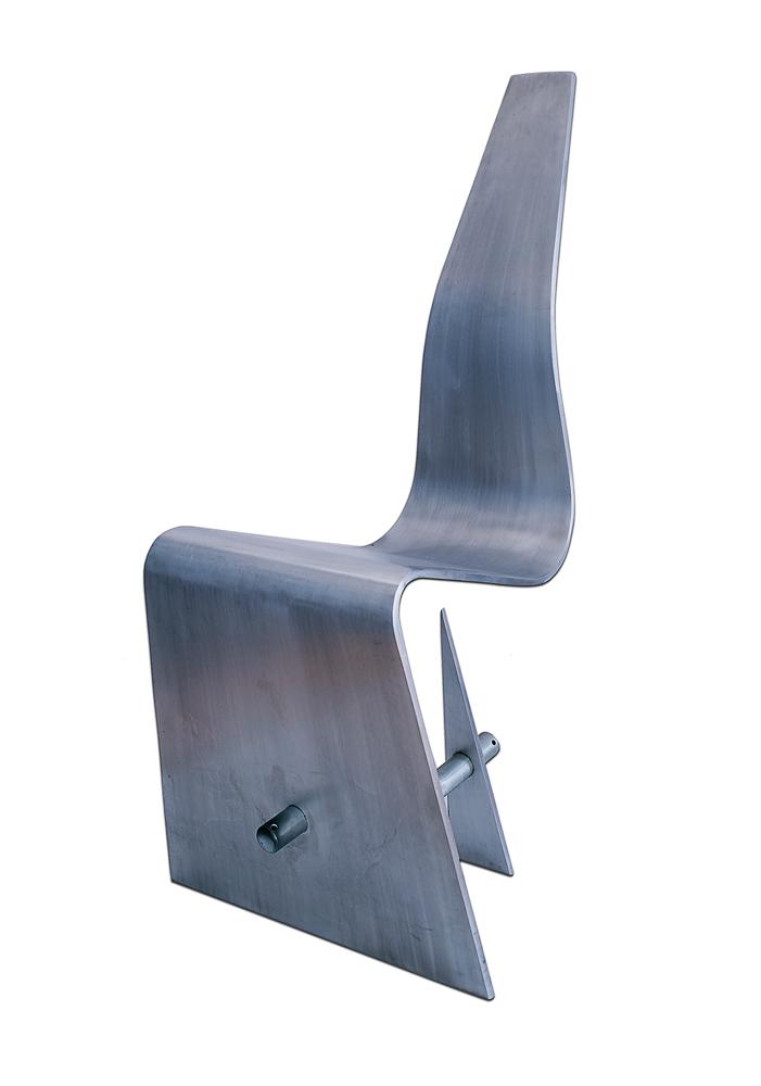 Cut Sheet aluminium and tubular steel chair